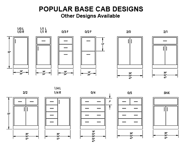 popular base cab designs