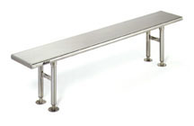 Gowning-Bench-Solid-Stainless